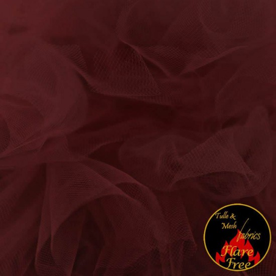 Tulle Netting Fabric Bordeaux 300CM Wide