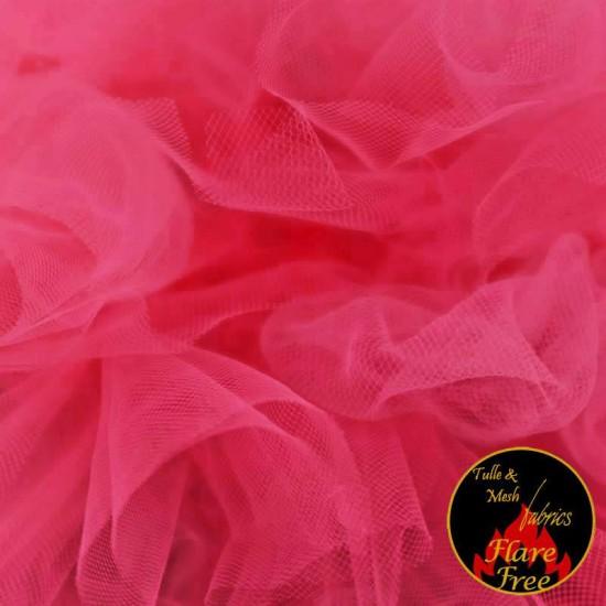 Tulle Netting Fabric Fuchsia 300CM Wide