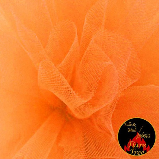Tulle Fabric Fluor Orange