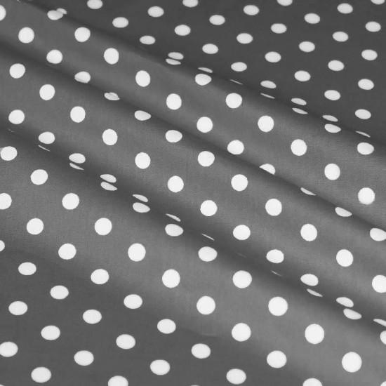 Polka Dot Fabric Grey / White 7mm