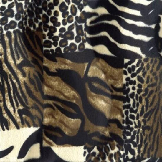 Tessuto Velboa Patchwork Di Animale