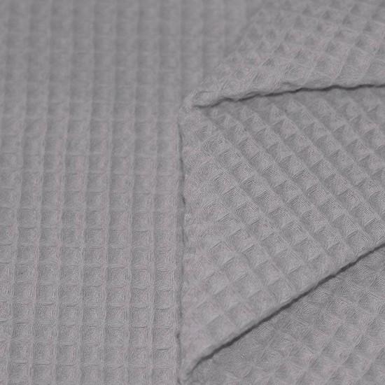 Waffle Pique Fabric Light Grey