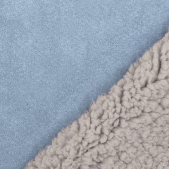Sherpa Faux Fur Lamb Fabric Light Blue