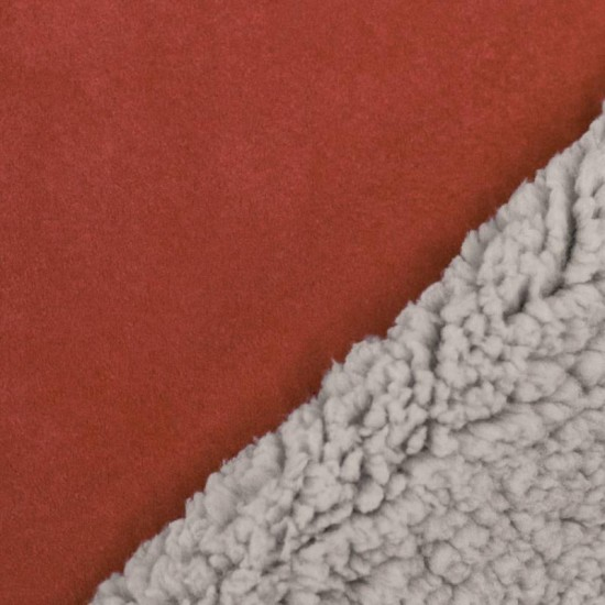 Sherpa Faux Fur Lamb Fabric Rust Orange
