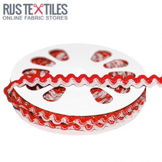 Zigzagband Rood Wit 8mm