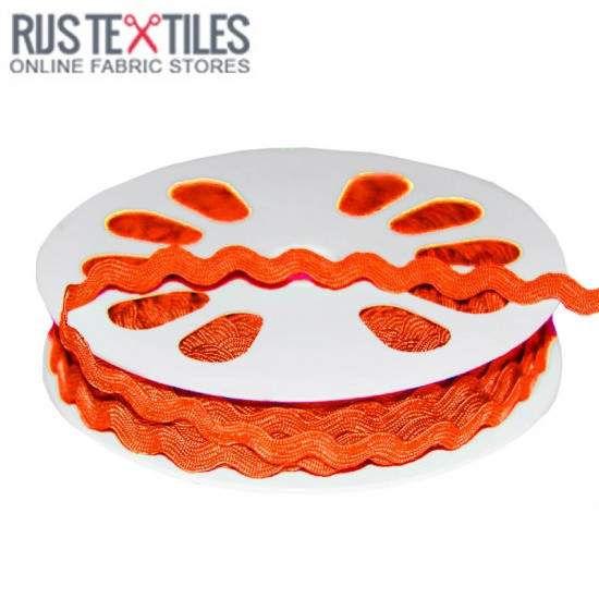 Rick Rack Ribbon Orange 8mm