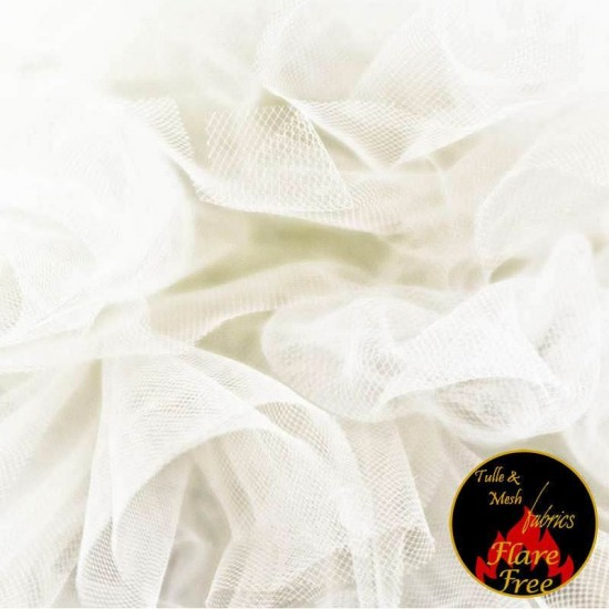 Tulle Netting Fabric Ivory 300CM Wide