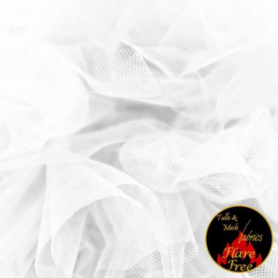 Tulle Netting Fabric White 300CM Wide