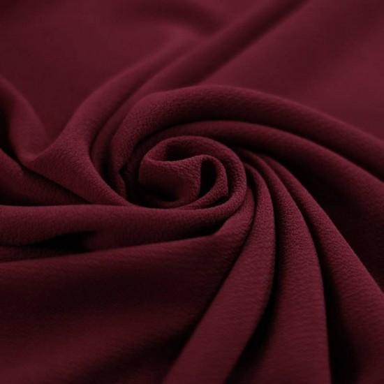 Bubble Chiffon Fabric Stretch Bordeaux