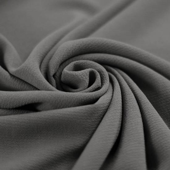 Bubble Chiffon Fabric Stretch Dark Grey