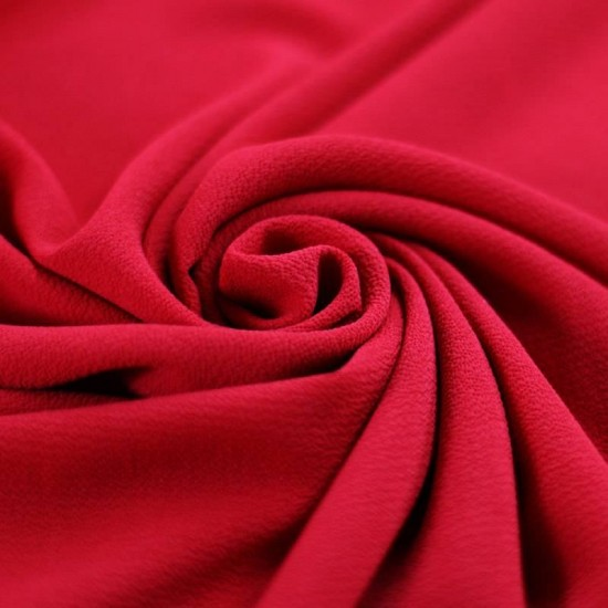 Bubble Chiffon Fabric Stretch Red