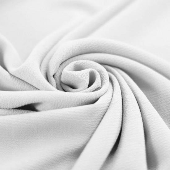 Bubble Chiffon Fabric Stretch White