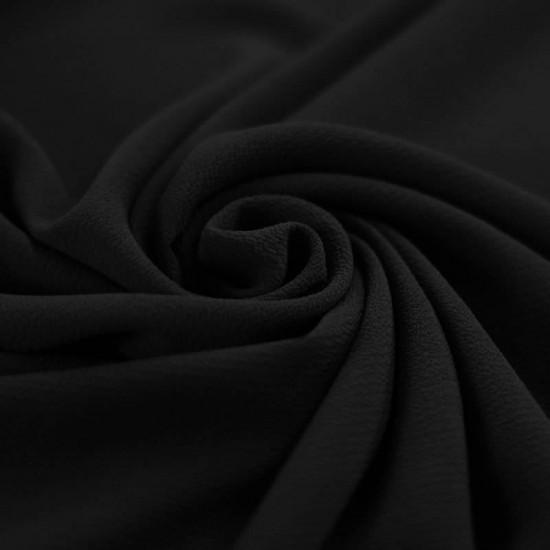 Bubble Chiffon Fabric Stretch Black