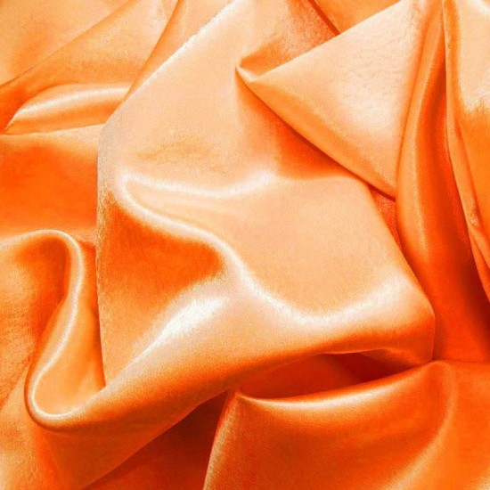 Crepe Satin Fluor Orange