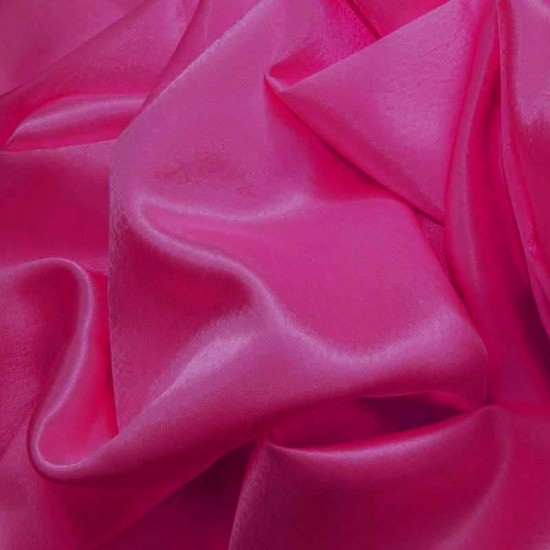Crepe Satin Hot Pink