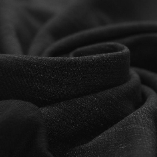 French Terry Fabric - Black Special Melange