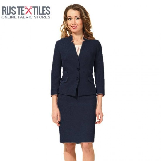 Boiled Wool Fabric Navy