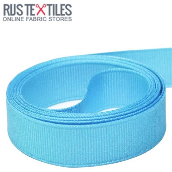 Grosgrain Ribbon Aqua 25mm