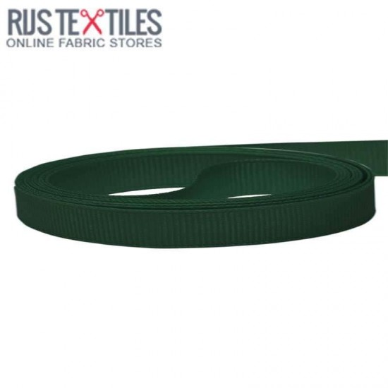 Grosgrain Ribbon Dark Green 10mm