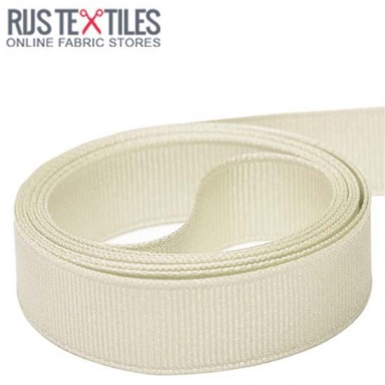 Grosgrain Ribbon Off White 25mm
