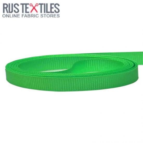 Grosgrain Ribbon Grass Green 10mm