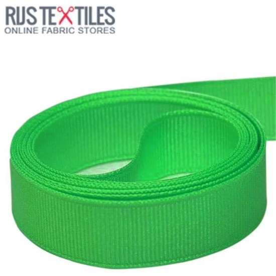 Grosgrain Ribbon Grass Green 25mm