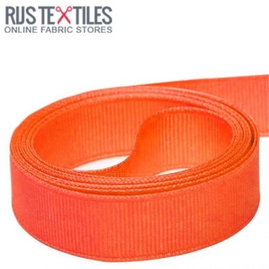 Grosgrain Ribbon Orange 25mm