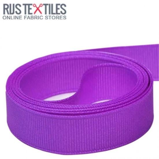 Grosgrain Ribbon Purple 25mm