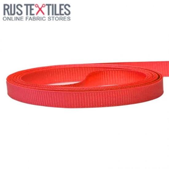 Grosgrain Ribbon Red 10mm