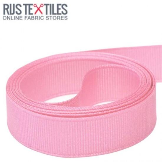 Grosgrain Ribbon Pink 25mm