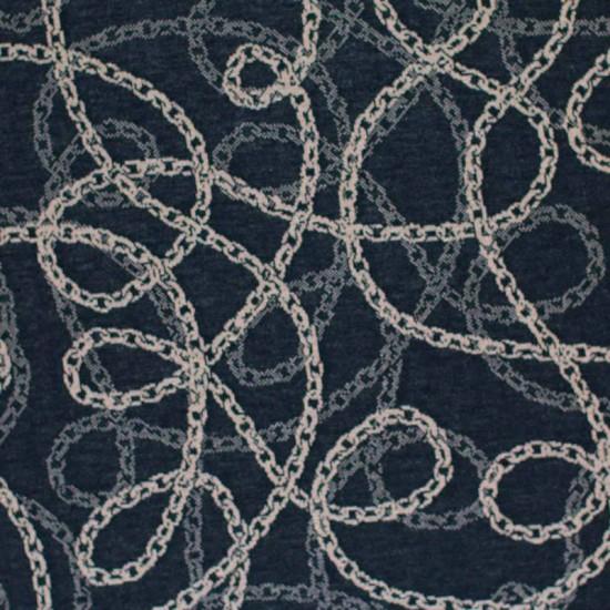 Jacquard Fabric - Chain Black Beige