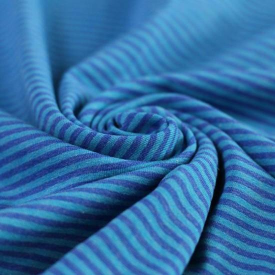 Jersey Stripes 3mm Aqua Melee / Cobalt Melee