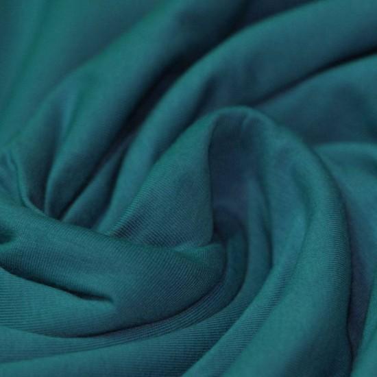 Cotton Jersey Knit Fabric Petrol