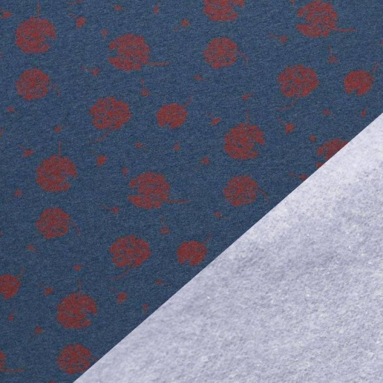 Jogging Fabric - Dandelion Jeans Melange / Red