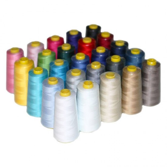 Overlock Thread Package 25 Colors x 10 Pieces