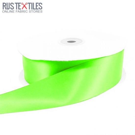 Satin Ribbon 25mm Fluor Green
