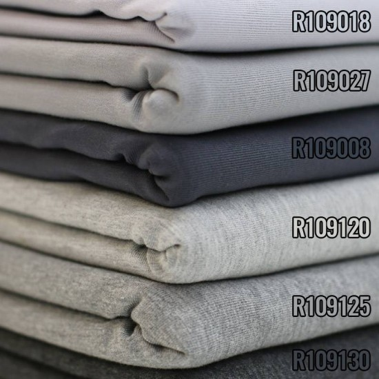 Cotton Jersey Knit Fabric Melee Grey